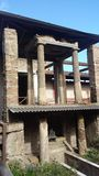 The houses of Pompeii royalty free stock photography