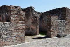 Houses, Pompeii Archaeological Site, nr Mount Vesuvius, Italy Stock Photo