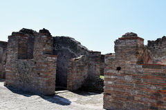 Houses,  Pompeii Archaeological Site, nr Mount Vesuvius, Italy Stock Photography