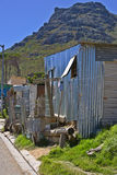 Houses in poor township outside Cape Town Stock Image