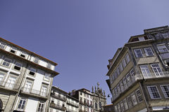 Houses Porto. Detail about old buildings Royalty Free Stock Images
