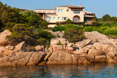 Houses in Porto Cervo, Sardinia Royalty Free Stock Image