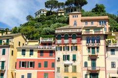 Houses in Portofino Royalty Free Stock Photos