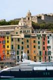 Houses in Portovenere Liguria Italy Stock Images