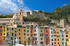 Houses in Portovenere Liguria Italy Stock Image