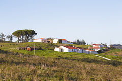 Houses in portuguese landscape Royalty Free Stock Photos