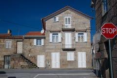 Houses in portuguese village Linhares da Beira Royalty Free Stock Photos