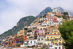 Houses Positano Stock Photo