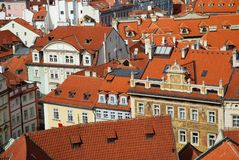 The houses of Prague Royalty Free Stock Images