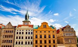 Houses In Prague Stock Photography