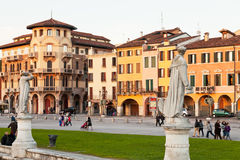 Houses on Prato della Valle in Padua, Italy Stock Image
