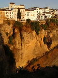 Ronda, Spain. The precipe in Ronda, Andalusia, Spain on sunset stock photo