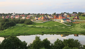 Houses on the Ptitsegradskaya ponds. Stock Images