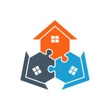 Houses Puzzle Assembled Illustration Stock Photos
