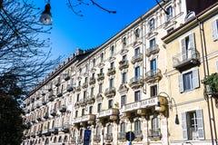 Houses in the Quadrilatero Romano in Turin Stock Photos