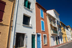 Houses on quay in Port Vendres Royalty Free Stock Photo