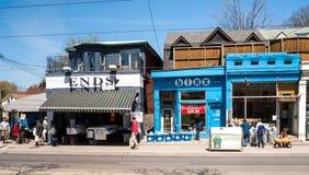 Houses on Queens Street East, Toronto stock image
