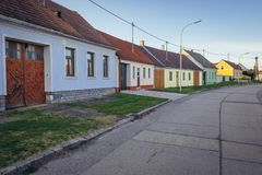 Rabensburg in Austria. Houses in Rabensburg, small town in Austria near the Slovakian border Royalty Free Stock Photos