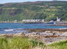 Houses on Rathlin Island, Antrim, Northern Ireland Stock Images