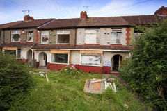 Houses ready to be demolished Royalty Free Stock Photography