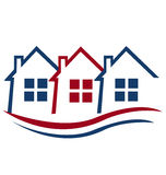 Houses for Real Estate logo Stock Images