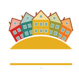 Houses or real estate on a a hill design Stock Photo