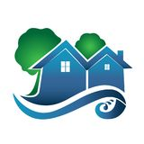 Houses real estate image logo vector design Stock Photography