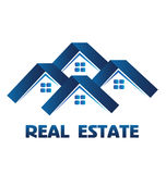 Houses real estate logo vector Royalty Free Stock Photo