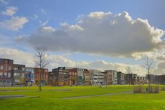 Houses in rebuilt Roombeek. After fireworks explosion Stock Photography