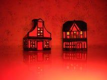houses red royaltyfria foton