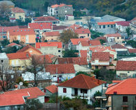 Houses with red roofs Royalty Free Stock Images