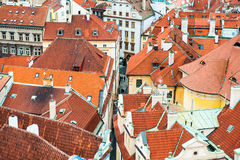 Houses with red roofs Royalty Free Stock Photo