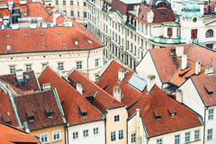 Houses with red roofs Stock Image