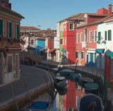 Houses and reflections. Burano Stock Images