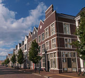Houses, residential building. A dutch architectural residential neighborhood in the netherlands Stock Photos