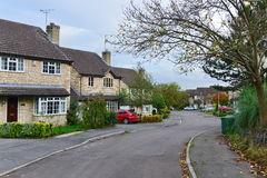 Houses on a Residential Estate. Bradford on Avon, UK - November 1, 2014: View of houses on a residential estate. New home buyers in the UK are facing a shortage Stock Photo