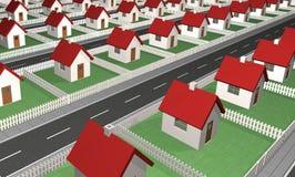 Houses - Residential Neighborhood Royalty Free Stock Photography