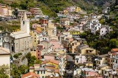 Houses of Riomaggiore Stock Image