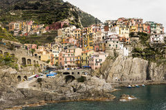 Houses of Riomaggiore Royalty Free Stock Photography