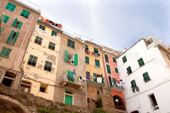 Houses in riomaggiore in italy Royalty Free Stock Image