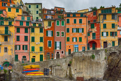 Houses of Riomaggiore royalty free stock photos