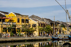 Houses on the river,. Houses on the river in Hoi An, Vietnam Stock Photos