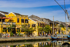 Houses on the river, Royalty Free Stock Photos