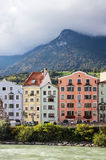 Houses on River Inn in Innsbruck, Austria Stock Image