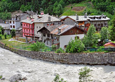 Houses at the river Stock Image