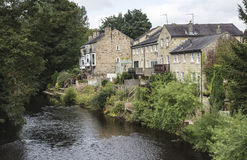 Houses by riverside at Knaresborough, Yorkshire Stock Image