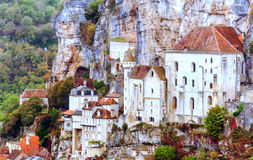 Houses in Rocamadour Royalty Free Stock Photos