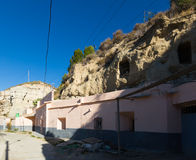 Houses into rock. Andalusia, Spain Royalty Free Stock Photos