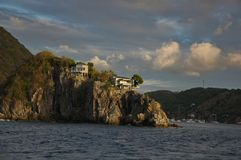 Houses on a rock Stock Image