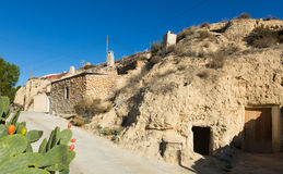 Houses  into rock. Cortes de Baza Royalty Free Stock Images
